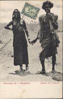 CPA Souvenir De L'abyssinie Beauté Dankali Jeune Fille Seins Nus Soldat YT 40 Mosquée Tajourah Côte Française Somalis - Ethiopia