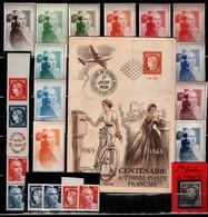 Centenaire Du Timbre:4/1er Jour+série Complète12vignettes+bande Entière Et Découpée+1er Timbre France - Unclassified