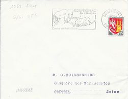 DORDOGNE 24  - ROUFFIGNAC - FLAMME N° 1563 - DESCRIPTION  - 1965 - TIMBRE N° 1553A TARIF 19 05 64 IMPRIME - Postmark Collection (Covers)