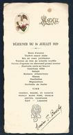 MENU DE DEJEUNER DU 16 JUILLET 1929 - Menus