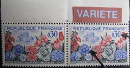 LOT R1752/5 - 1963 - PAIRE BdF N°1369d TIMBRES NEUFS** - VARIETE ☛ BOULES BLANCHES - Variétés Et Curiosités