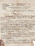 Prairial An 6 - CARCASSONNE - Adminst De L'AUDE Au Canton De LIMOUX Sur Les INDIGENTS - - Documentos Históricos