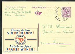 Publibel Obl. N° 2597 + P010 ( Vin De France) Obl; Lessines  A A  30/07/74 - Publibels