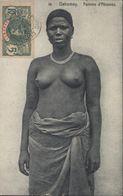 CPA Dahomey Femme D'Abomey Femme Seins Nus YT 21 Général Faidherbe AOF CAD Cotonou Dahomey Date Non Lisible Dos 1909 - Dahomey