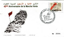 Maroc Y&T N° 1753 42° Anniv Marche Verte  (FDC) - Maroc (1956-...)