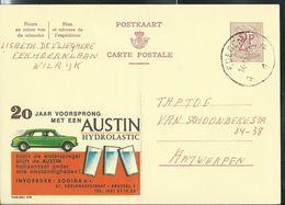 Publibel Obl. N° 2116 ( Austin, Voiture - Cars Hydrolastic) Obl. Edegem  A 1 A 14/11/66 - Stamped Stationery