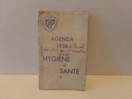 Agenda Hygiène Et Santé 1936 La Ferté Saint-Aubin - Unclassified