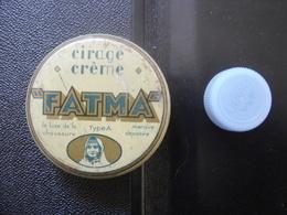 Boite Ancienne Fer CREME FATMA POLISH CIRAGE 6,5 Diamx2,5 Cm - Boxes