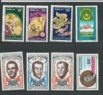 MAURITANIE Scott C94-C96, C97, C90-C100, C109 Yvert PA98-PA100, PA109, PA102-PA104, PA111 (8) ** Cote 14,50 $ 1970-71 - Mauritanie (1960-...)
