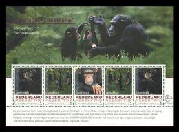 Netherlands (GP) 2017 No. 2017-171/75 Fauna. Endangered Animals. Monkeys. Chimpansee MNH ** - Period 2013-... (Willem-Alexander)
