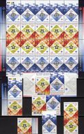 EUROPA 2006 Ukraina 766/7,ZD,KD,KB,Paar+Block 54 ** 55€ Stamp On Stamp Tete-tete Se-tenant Sheetlet Bf 50 Year CEPT - Ukraine