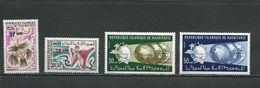 MAURITANIE Scott 309-310, 316-317 Yvert 313-314, 326-327 (8) ** Cote 8,00 $ 1974 Surcharges - Mauritanie (1960-...)