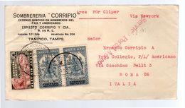 1941 Sombrereria CORRIPO Tampico PER CLIPPER > Ernsto Corripo Roma (228) - Mexique
