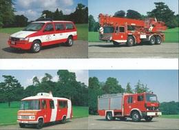 Pompiers De Bruxelles Lot De 12 Cartes Une Pliée Dans Une Pochette ( Certaines De Ces Cartes Se Sont Vendues 6 EUR ) - Bruxelles-ville