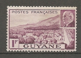 GUYANE - Yv. N°  172  (*)  1f  Pétain  Cote  0,8 Euro BE  2 Scans - Guyane Française (1886-1949)