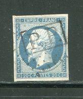 Très Rare- Y&T N°14A, Oblitération P.P. - 1853-1860 Napoleone III