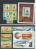 MAURITANIE 2 Séries Complètes Avec Blocs, Voir Détail (11+2blocs) O Cote 10,50 $ 1976 - Mauritanie (1960-...)