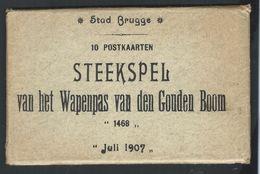 +++ Lot 10 CPA - BRUGGE  BRUGES - Steekspel Van Het Wapenpas Van Den Gouden Boom - 1907    // - Brugge