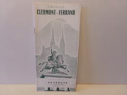 Dépliant Touristique Clermont-Ferrand ( 1954 ) - Dépliants Touristiques