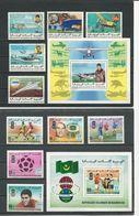 MAURITANIE 2 Séries Complètes Avec Blocs, Voir Détail (10+2blocs) O Cote 6,70 $ 1977 - Mauritanie (1960-...)