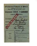 Fèdèration Française De Boules De 1949 - Documents Historiques