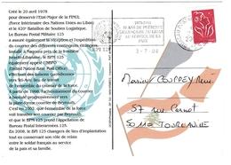 Liban BPI Bureau Postal Interarmées 125 - 2008 - Casques Bleus ONU UNO - Recto-verso - Poste Militaire - Libanon