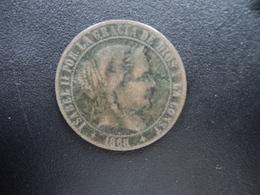 ESPAGNE : 2 1/2 CENTIMOS DE ESCUDOS  1868 OM   KM 634.2 *   TTB - [ 1] …-1931 : Royaume