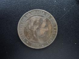ESPAGNE : 2 1/2 CENTIMOS DE ESCUDOS  1868 OM  KM 634.5 *   TB+ /  TTB - [ 1] …-1931 : Royaume