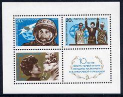 SOVIET UNION 1973 Tereshkova Flight Anniversary Block MNH / **.  Michel Block 89 - 1923-1991 USSR