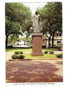 Cpm - John Wesley Monument - St Savannah Georgia GA USA - 1976 - Savannah
