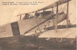 Leopoldsburg, Bourg-Léopold, Camp De Béverloo, Koninklijke Vliegtuig Met Koning Albert, Met Postzegels, 1935, Avion Roya - Leopoldsburg (Kamp Van Beverloo)