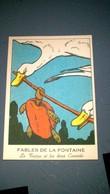 Image CHROMO Bon Point école - Fables De La Fontaine - La Tortue Et Les Deux Canards (scan Recto Verso) - History