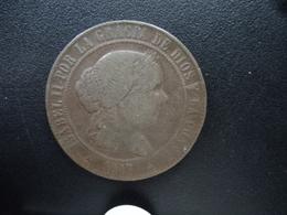 ESPAGNE : 5 CENTIMOS DE ESCUDOS  1867 OM  KM 635.4 *   TB+ - [ 1] …-1931 : Royaume