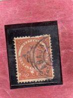DUTCH INDIA INDIE INDE NEDERLANDS HOLLAND OLANDESE OLANDESI 1903 1908 Queen Wilhelmina 30c USATO USED OBLITERE' - Niederländisch-Indien