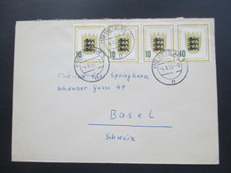 BRD 1955 Nr. 213 MeF Mit 4 Marken / 2 Waagerechte Paare! Wetzlar Nach Basel Schweiz - BRD