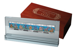NIUE YEAR OF DRAGON 2012 9 COINS X 5 DOLLARS 360 GR Proof Silver Box & CoA - Niue
