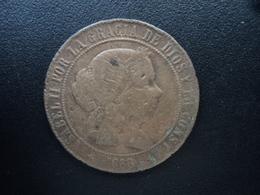 ESPAGNE : 5 CENTIMOS DE ESCUDOS  1868 OM  KM 635.2 *   TB - [ 1] …-1931 : Royaume