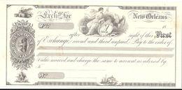 CHEQUE  N°1 NEW ORLEANS .TIRAGE SUR CANSON IMPRIMERIE STERN .SPECIMEN - Chèques & Chèques De Voyage