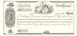 CHEQUE  N°3 NEW ORLEANS .TIRAGE SUR CANSON IMPRIMERIE STERN .SPECIMEN - Chèques & Chèques De Voyage