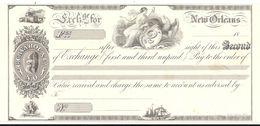 CHEQUE  N°2 NEW ORLEANS .TIRAGE SUR CANSON IMPRIMERIE STERN .SPECIMEN - Chèques & Chèques De Voyage