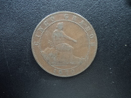 ESPAGNE : 5 CENTIMOS  1870 OM   KM 662   TTB - [ 1] …-1931 : Royaume