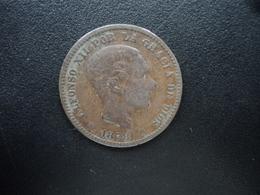 ESPAGNE : 5 CENTIMOS  1878 OM   KM 674   TB+ - [ 1] …-1931 : Royaume