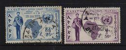 Ethiopia 1958, Minr 377-378, Vfu - Ethiopie
