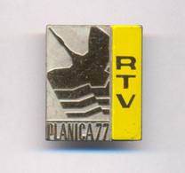 SKI JUMPING SLOVENIA PLANICA 1977. RTV  BADGE - Winter Sports