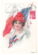 Carte-Maximum FRANCE N° Yvert 3418 (MARIANNE DU 14 JUILLET) Obl Sp FLAMME Ill  Versailles (Ed Castelet) - Maximumkaarten