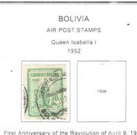 Bolivia PA 1952 Queen Isabella   Scott.C163+See Scans On Scott.Page - Bolivia