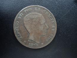 ESPAGNE : 10 CENTIMOS  1879 OM   KM 675 *   TTB / TB - [ 1] …-1931 : Royaume