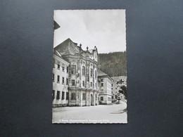 BRD 1956 Postkarte St. Blasien Eingang Zum Kolleg. Michel Nr. 223 MeF In Die Schweiz. Zernez Engadin - [7] Federal Republic