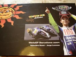 Coffret MotoGP Barcelona 2009 - Valentino ROSSI & Jorge LORENZO - Edition Limitée à 2009 Ex. - Echelle 1:12 - Motos