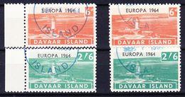 DAVAAR ISLAND (Emission Locale) - 1964 EUROPA SERIE (+ BLOC ET BLOC LUXE) Obl. LIGHTHOUSE / PHARE - Ortsausgaben